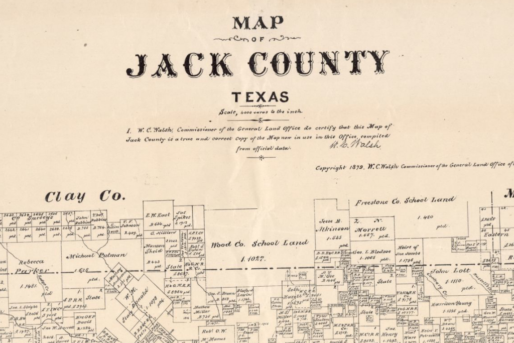 Jack County Map